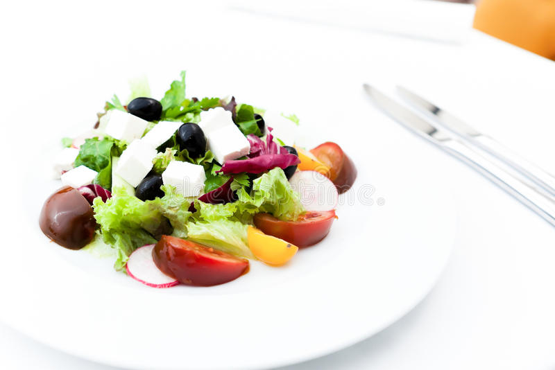 Download Greek salad stock photo. Image of healthy, appetizer - 26654128