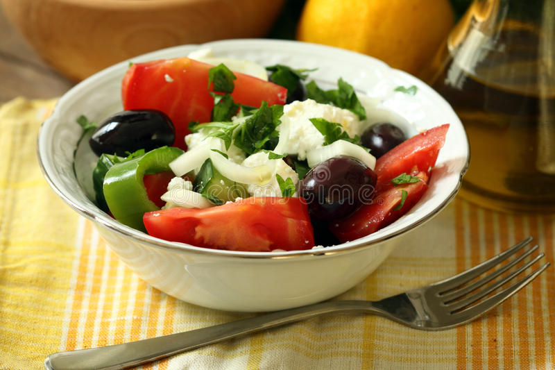 Download Greek salad stock photo. Image of delicious, cheese, appetizer - 27815256