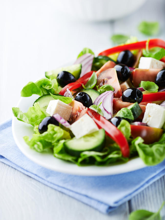 Download Greek Salad stock image. Image of black, tomatoes, fresh - 28766103