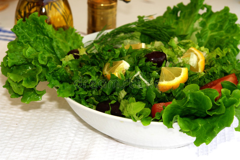 Greek salad 4 stock photo