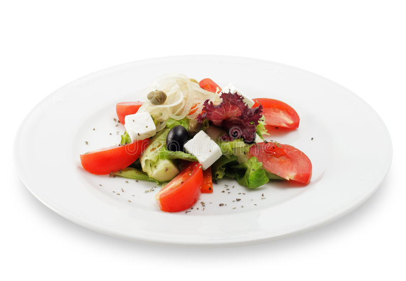 Download Greek salad stock photo. Image of dinner, elegant, cucumber - 7954052
