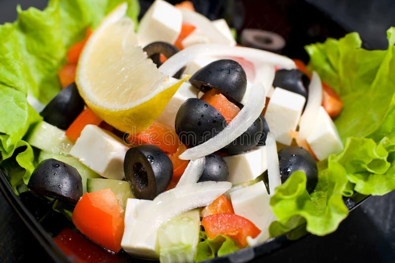 Greek salad, macro royalty free stock photos