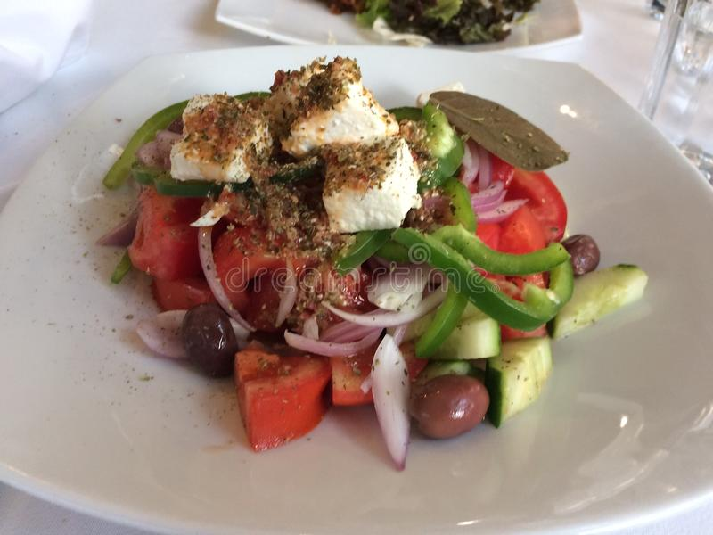 Greek salad, Traditional Greek salad. royalty free stock photo