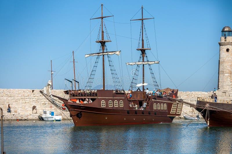 Greek schooner royalty free stock photography