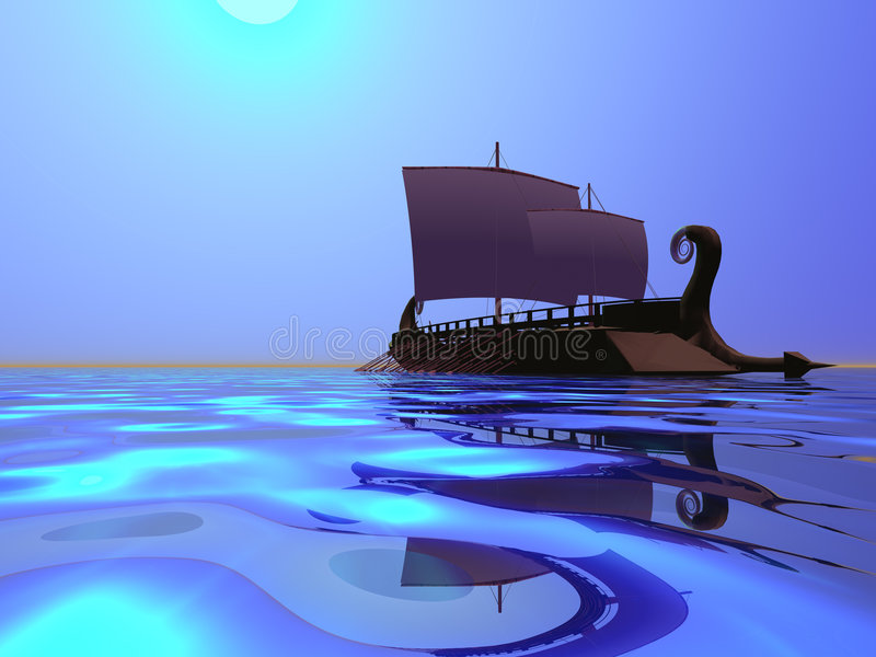 Greek Ship vector illustration