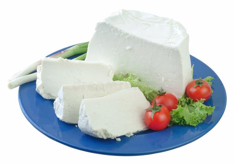 Greek soft cheese. royalty free stock photos