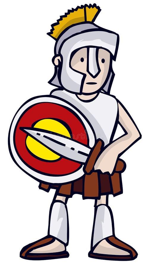 Download Greek Soldier stock vector. Image of cartoon, ancient, illustration - 739739