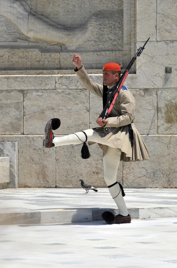 Download Greek soldier marching editorial photo. Image of ceremony - 26562851