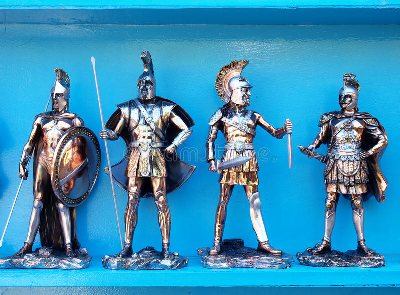 Greek soldiers royalty free stock photos