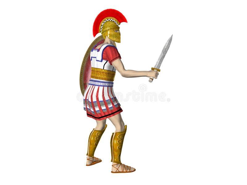 Download Greek Spartan Or Roman Warrior Stock Illustration - Image: 5272747