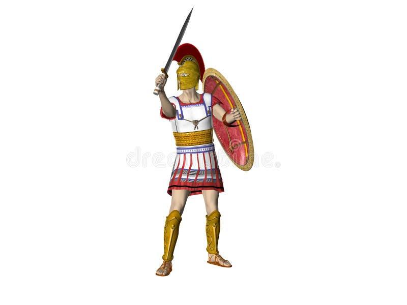 Download Greek Spartan Or Roman Warrior Stock Illustration - Image: 5272754