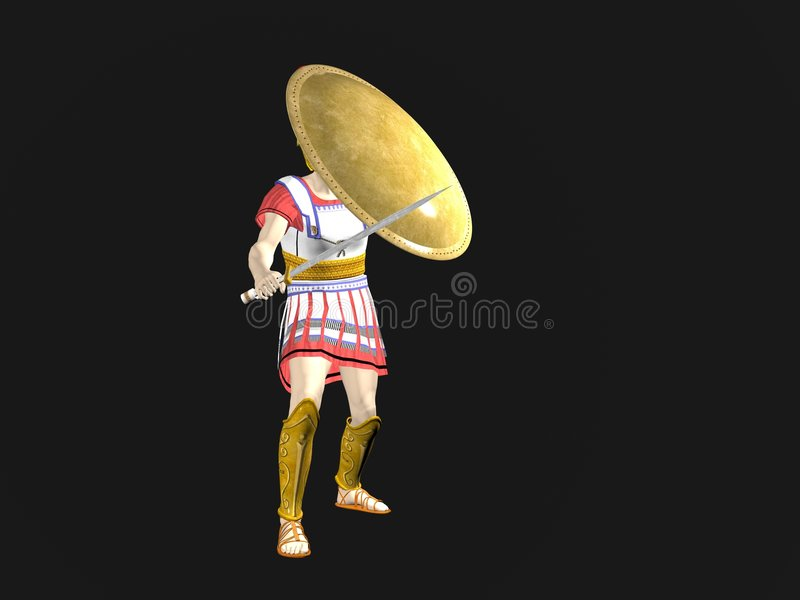 Download Greek Spartan Or Roman Warrior Stock Illustration - Image: 7076932