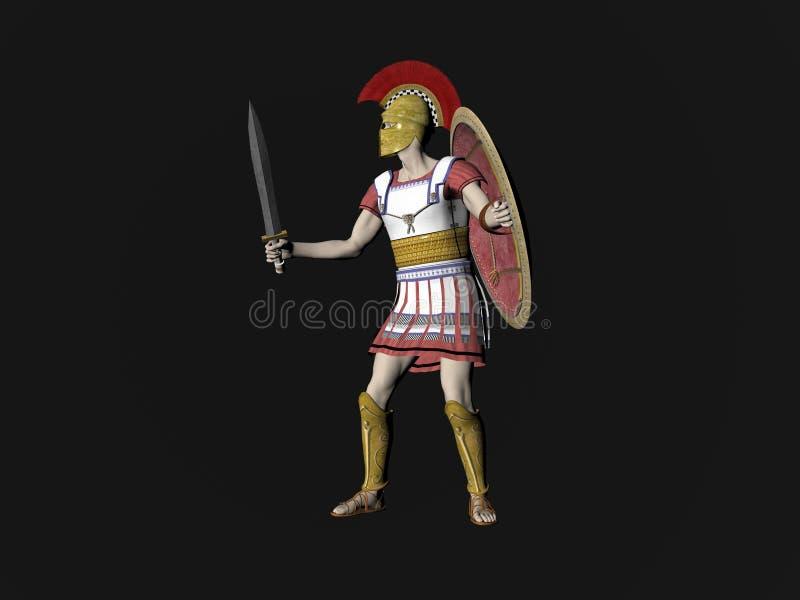 Download Greek Spartan Or Roman Warrior Stock Illustration - Illustration of mighty, rendering: 7076934