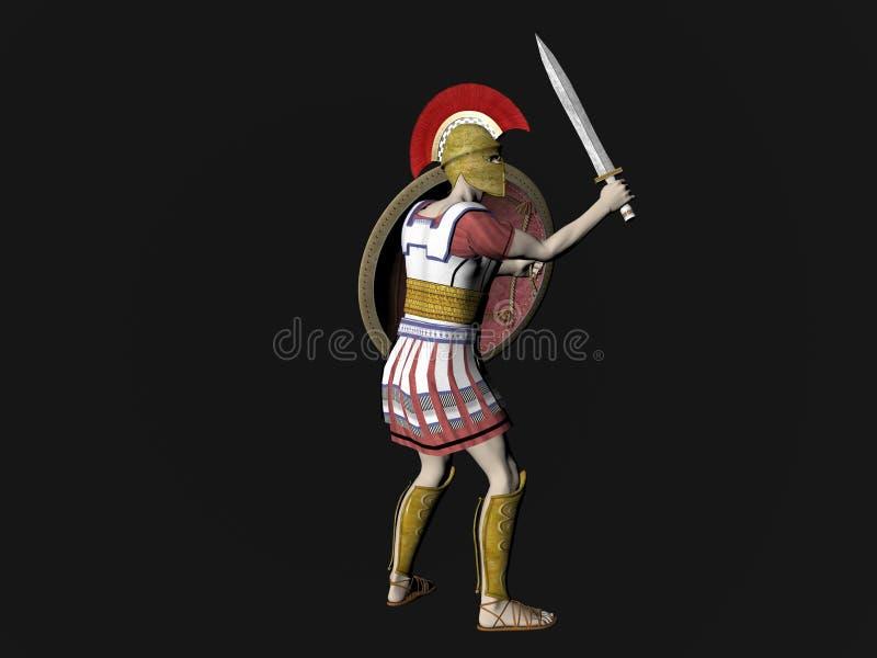Download Greek Spartan Or Roman Warrior Stock Illustration - Image: 7076938