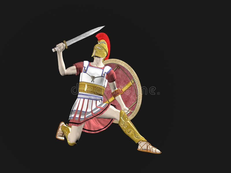 Download Greek Spartan Or Roman Warrior Stock Illustration - Image: 7076942