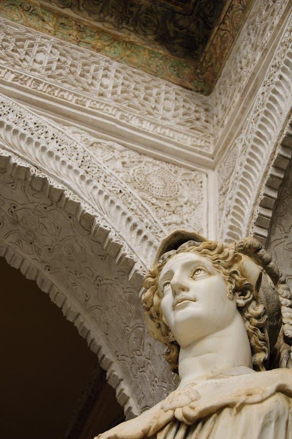 Greek statue in Casa de Pilatos, Seville stock image