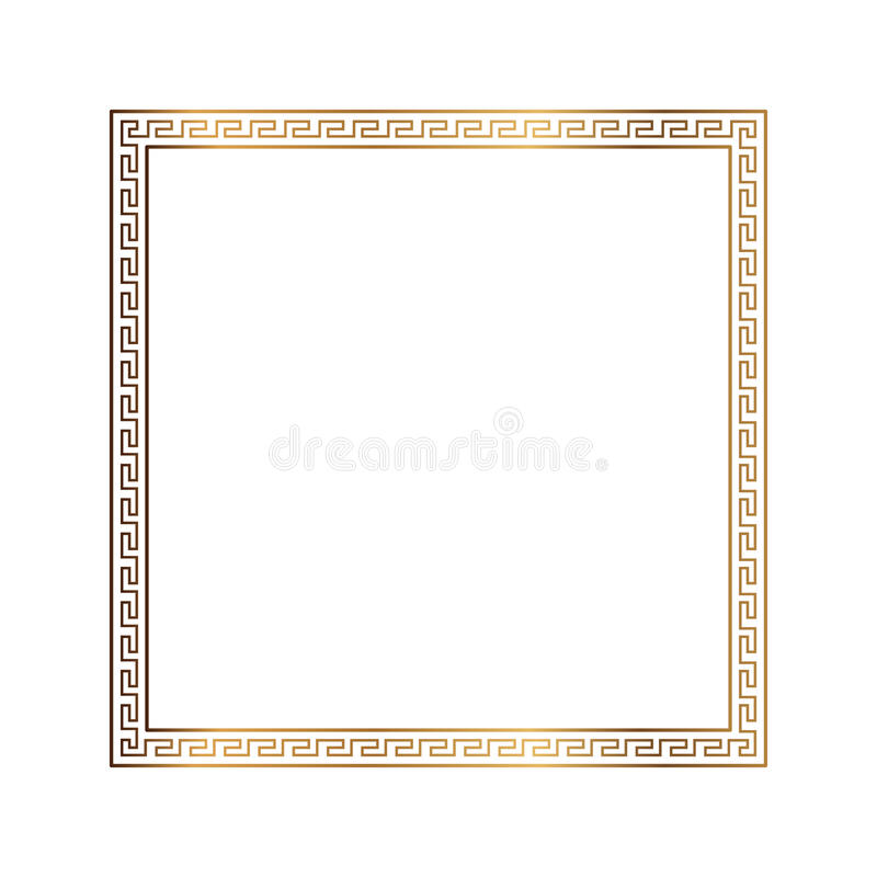 Greek style ornamental decorative frame pattern isolated. Greek Ornament. Vector antique frame pack. Decoration element patterns stock illustration