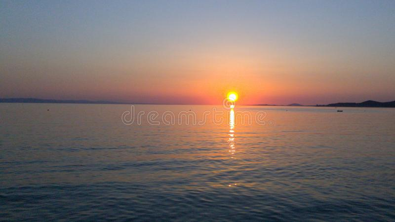 Greek sunset stock images