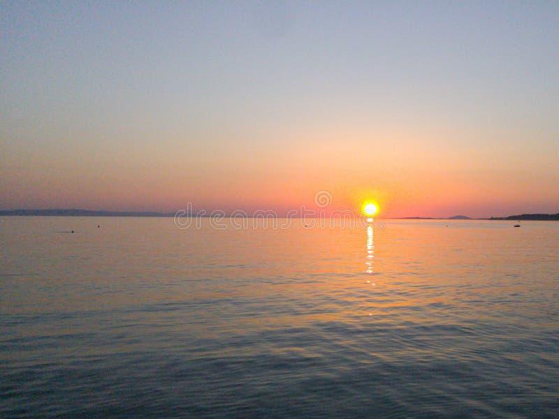 Greek Sunset 2 royalty free stock photo