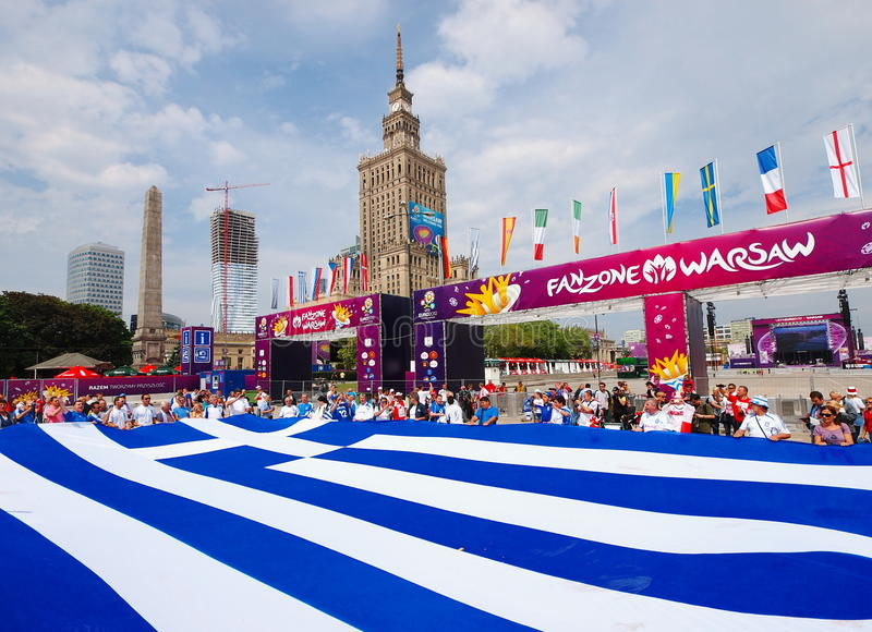 Download Greek Supporters editorial photography. Image of flag - 25185052