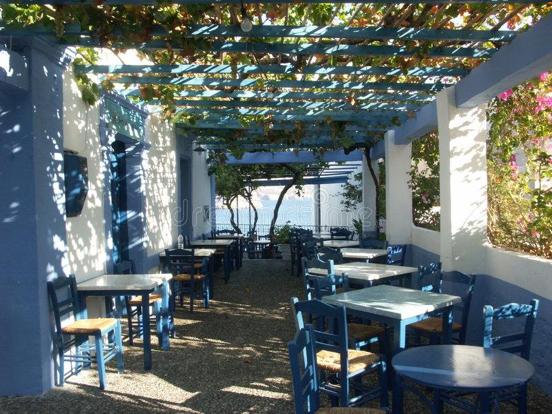 Download Greek taverna stock image. Image of blue, architecture - 5935807