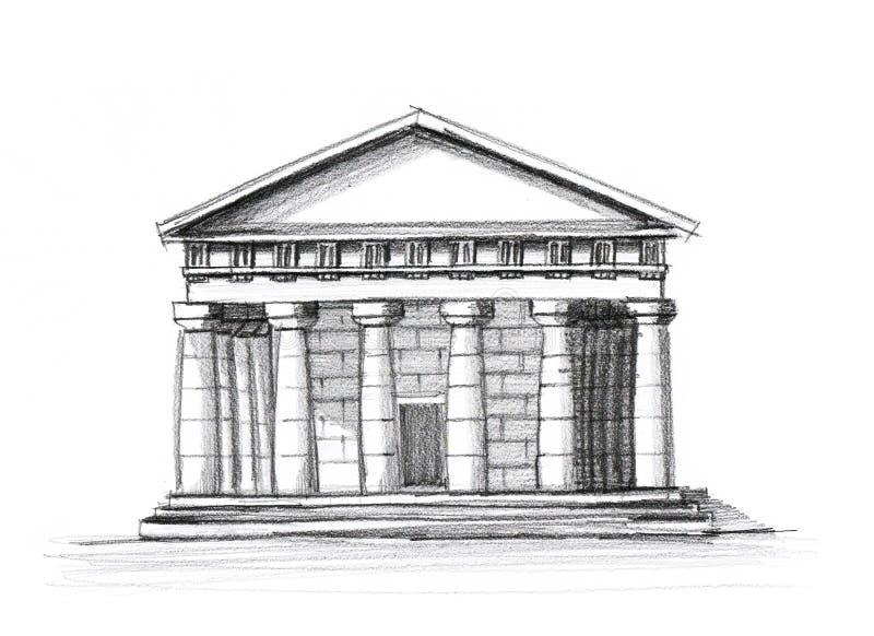 Download Greek temple stock illustration. Illustration of background - 10377329
