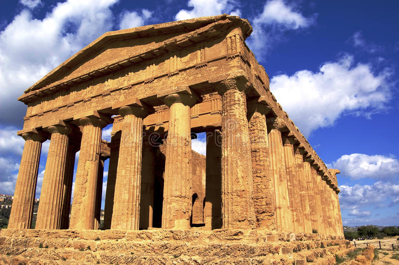 Greek temple. A greek temple in selinute, sicily, italy royalty free stock photography