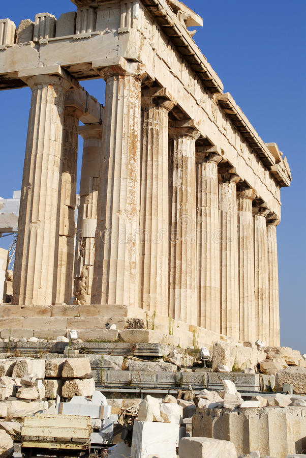 Greek Temple - Athens royalty free stock photography