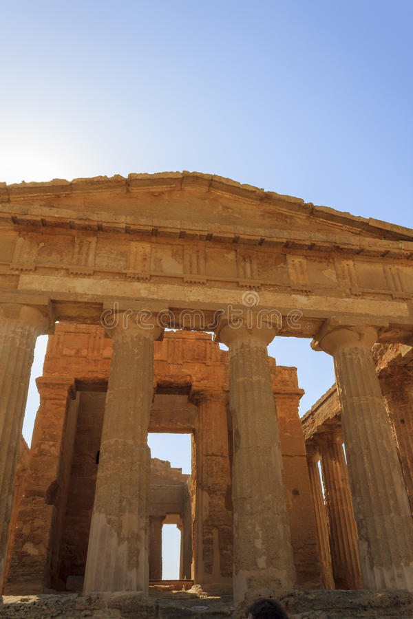 Greek Temple of Concordia in Agrigento - Sicily, Italy stock photo