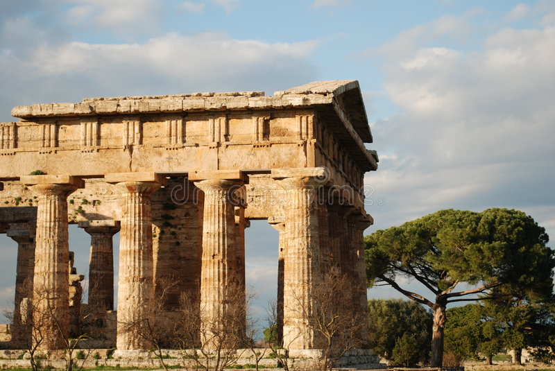 Greek temple in Paestum royalty free stock photos