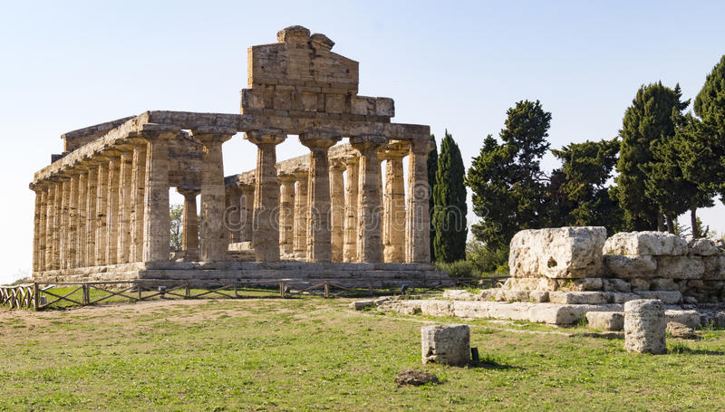 Greek temple paestum royalty free stock images