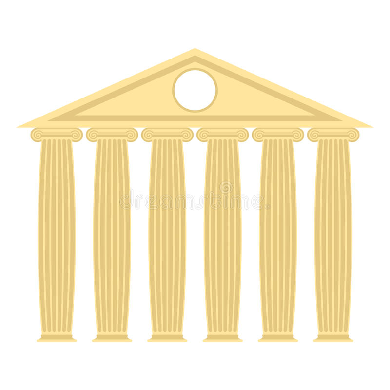 Free Greek Temple With Columns And Roof. Vector Illustration Of Ancie Royalty Free Stock Photography - 58351057