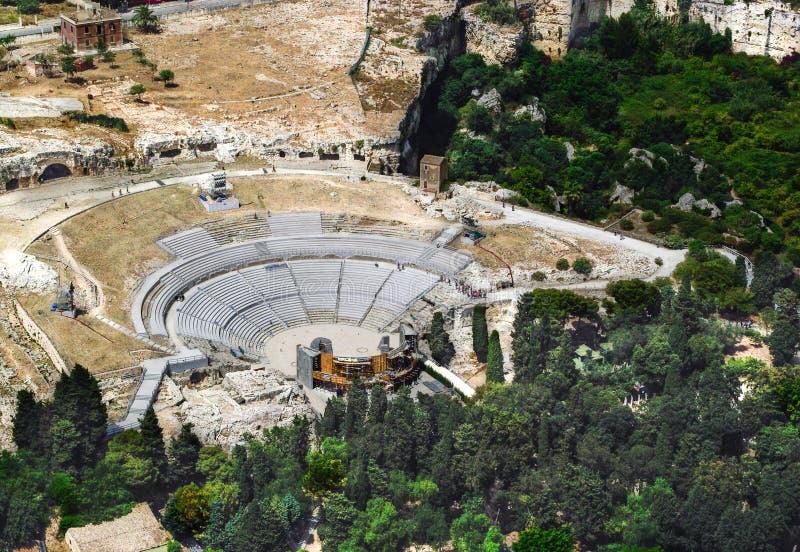 Greek Theatre of Syracuse Sicily royalty free stock photo