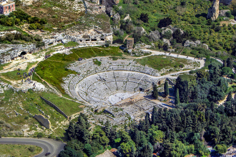 Greek Theatre of Syracuse Sicily royalty free stock image