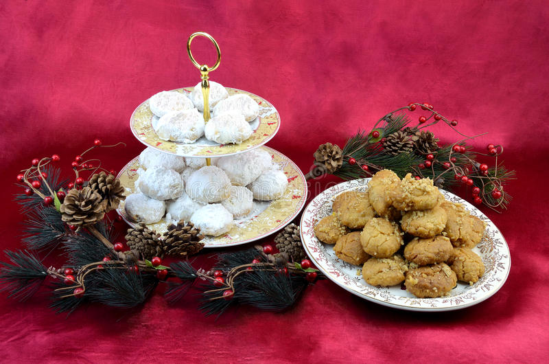 Greek traditional Christmas desserts stock image