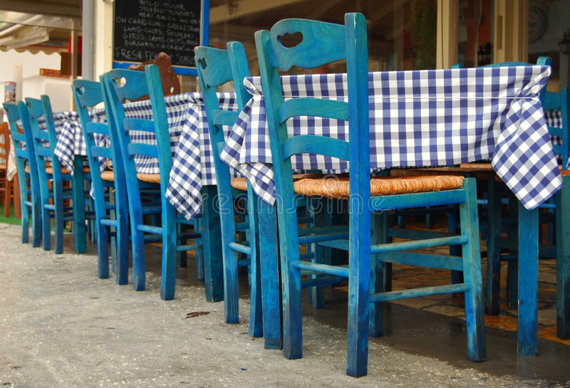 Download Greek Traditional Tavern On The Street Stock Photography - Image: 12586922