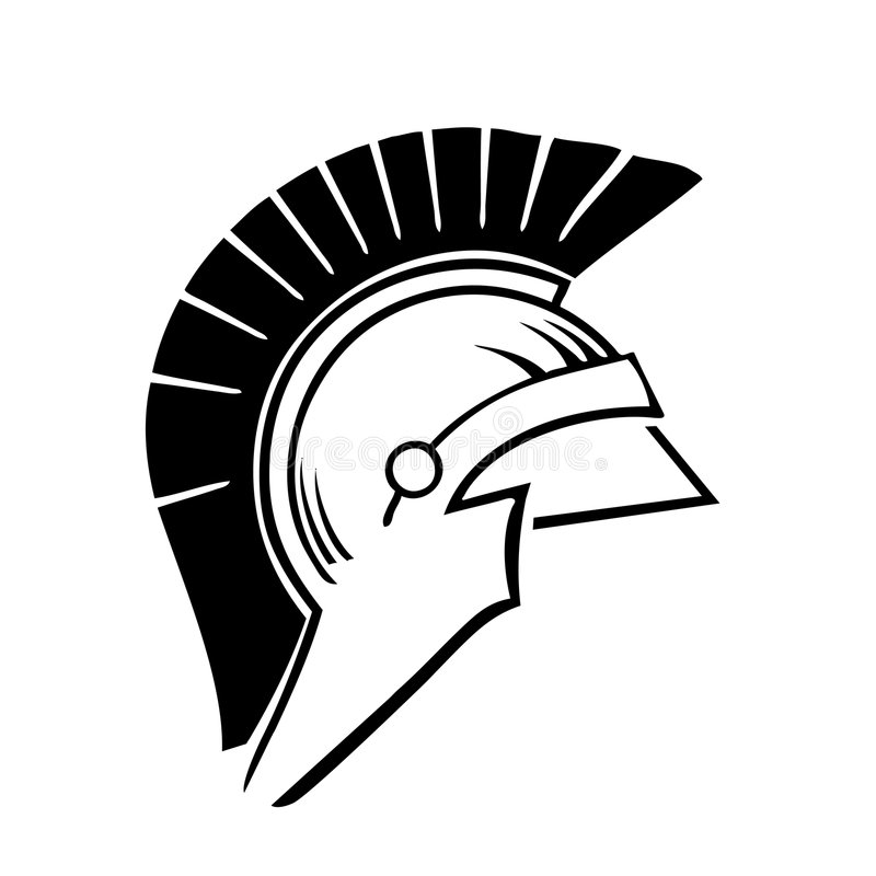 Greek trojan helmet vector stock illustration