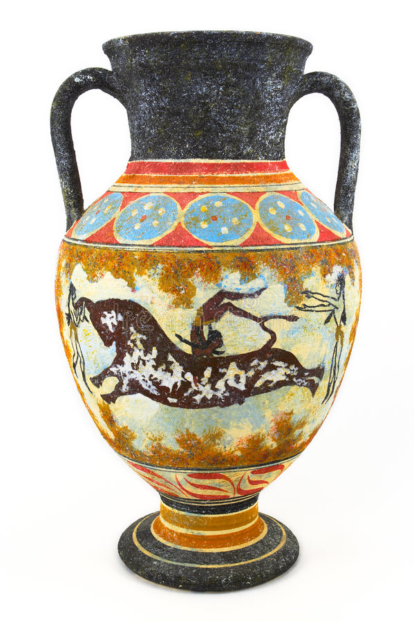 Greek Vase Stock Image Image Of Gymnast Athens Decorate 3810829
