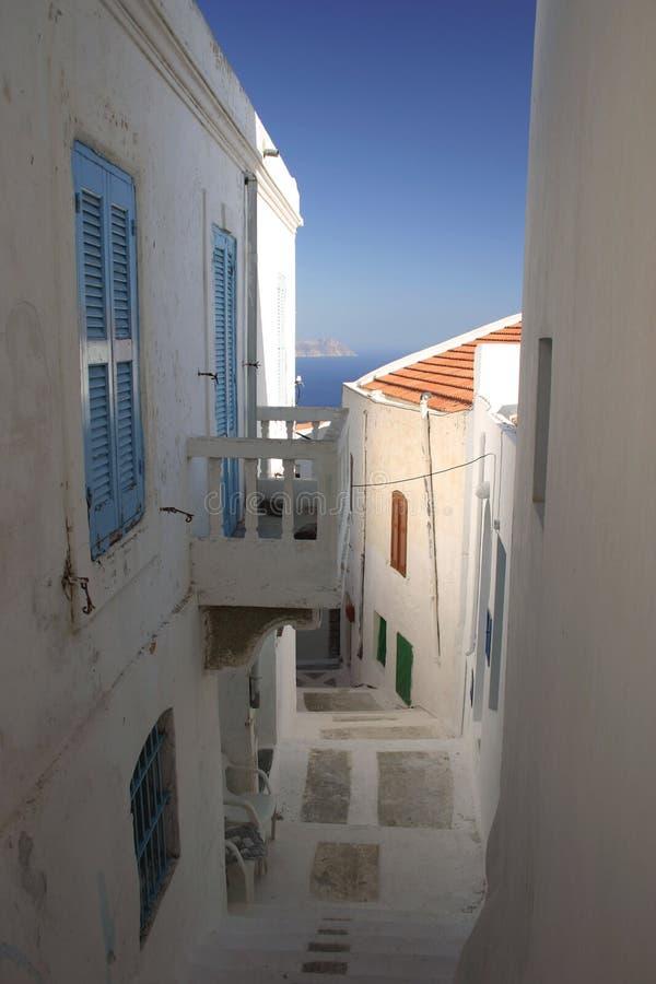 Greek Village royalty free stock photo