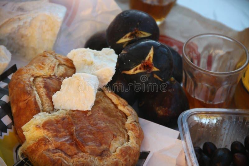 Greek village food market royalty free stock photos