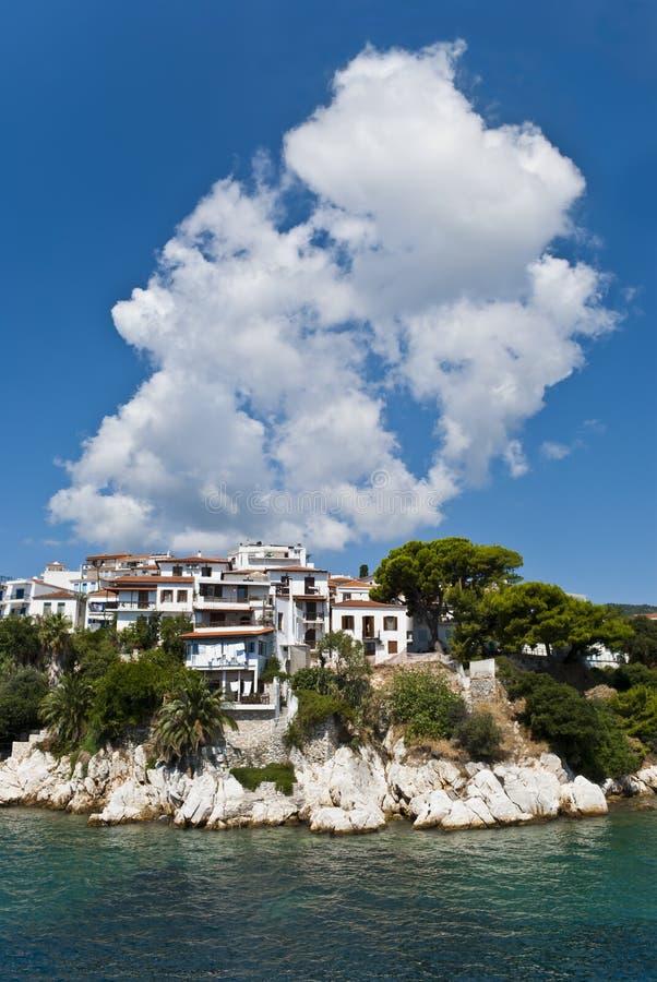 Free Greek Village In Summer Royalty Free Stock Image - 104782236