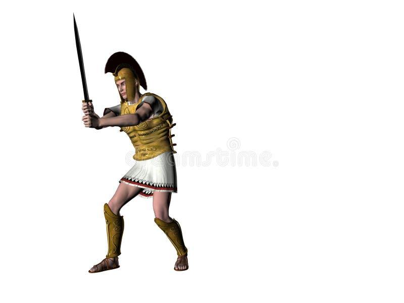 Download Greek Warrior 10 stock illustration. Illustration of forging - 538951
