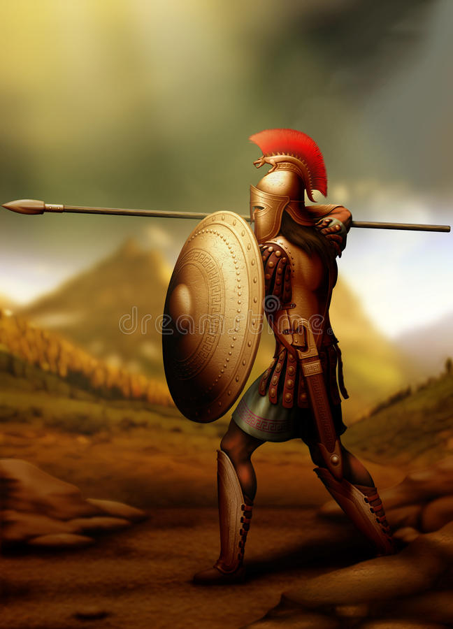 Greek-warrior royalty free stock images