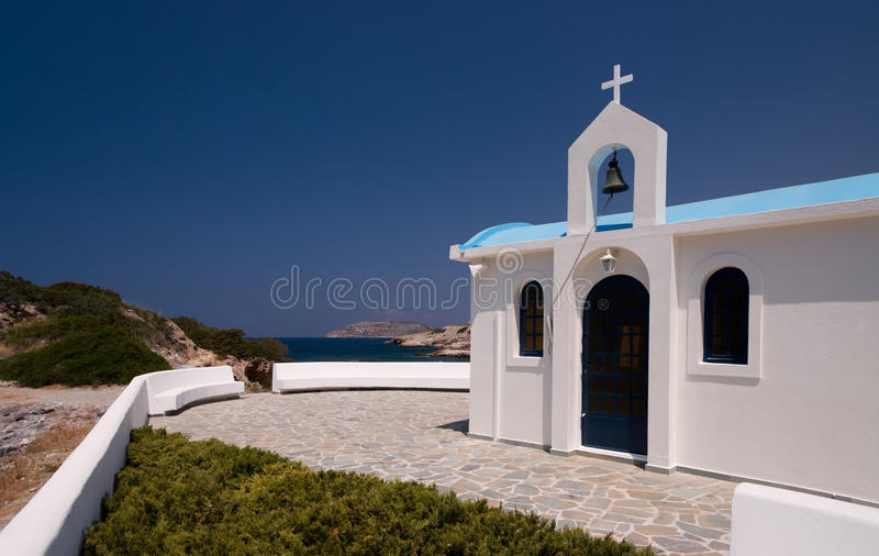 Download GREEK WHITE CHAPEL stock image. Image of color, church - 10472183