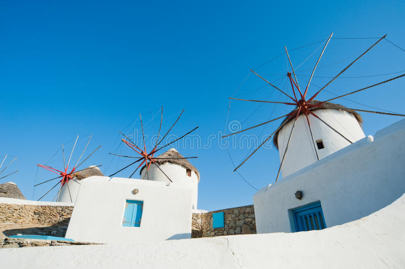 Download Greek windmill stock photo. Image of house, cycladic - 25063232