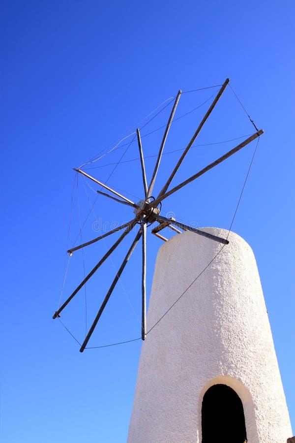 Greek Windmills Stock Photo