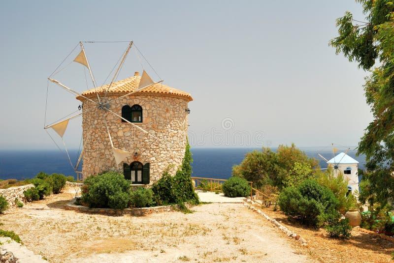 Greek Windmills royalty free stock image