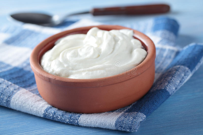 Greek yogurt royalty free stock photo