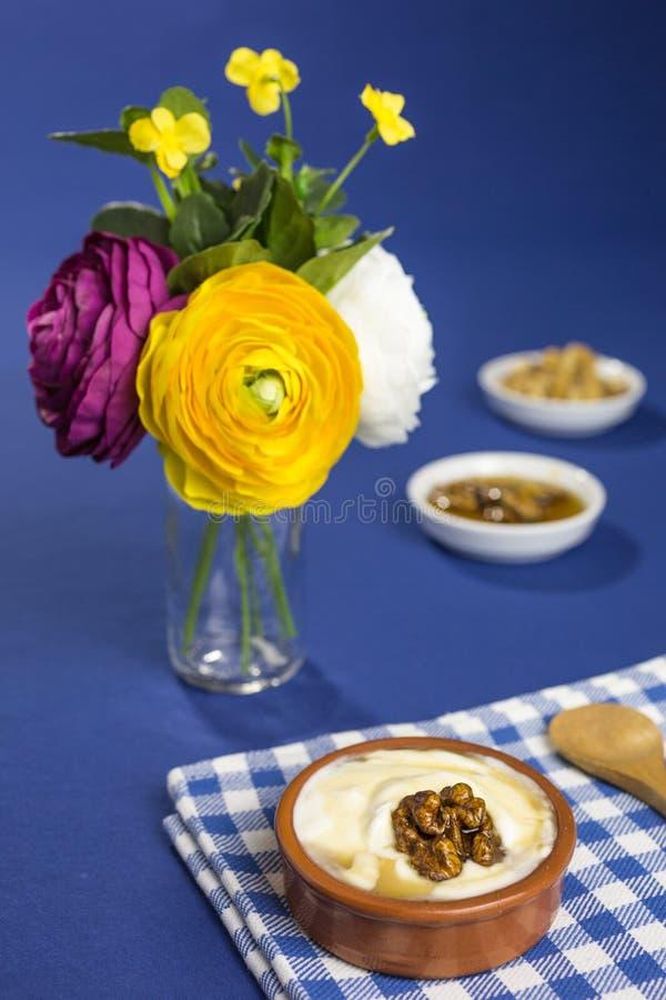Greek yogurt royalty free stock photos
