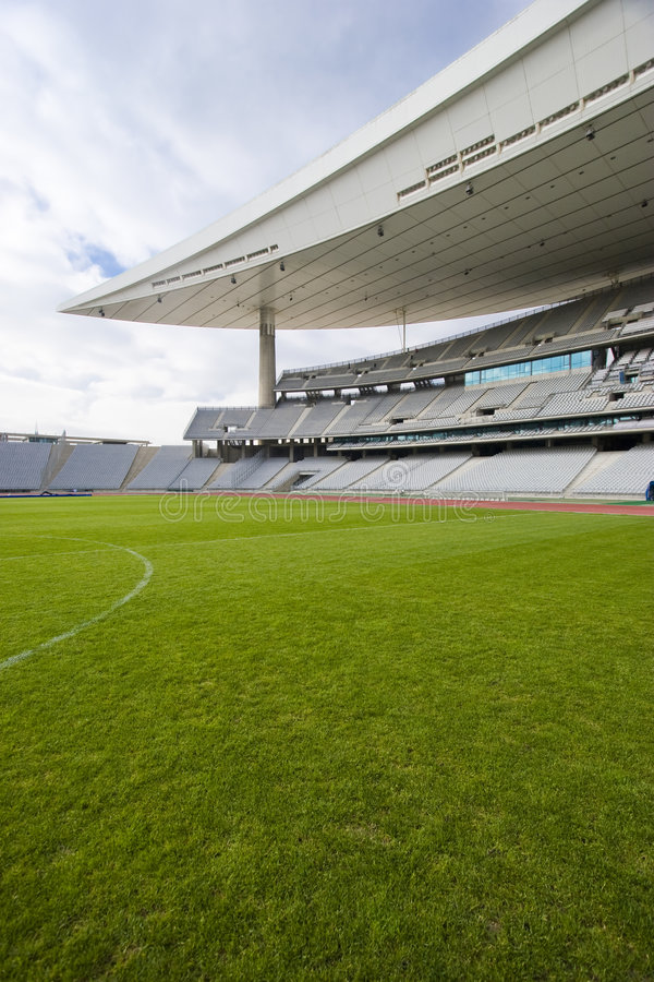 Greem Grass and The Stadium royalty free stock image